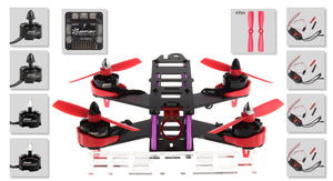 FASTTECH Little Bee FPV Race Quadcopter DIY Kit Red 180mm - Area 399 Hachune Rage
