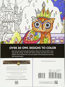 Creative Haven Owls Coloring Book (Adult Coloring) - Area 399 Hachune Rage