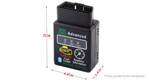 HH OBD ELM327 OBDII Scanner Bluetooth OBD2 CAN BUS Check Engine Diagnostic Tool - Area 399 Hachune Rage