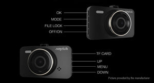 "Anytek A78 3"" IPS Dual Lens 1080p HD Car Dash Cam DVR Camcorder - Area 399 Hachune Rage"