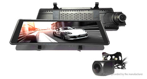"10"" Dual Lens 1080p HD Night Vision Car Dash Cam DVR Camcorder - Area 399 Hachune Rage"