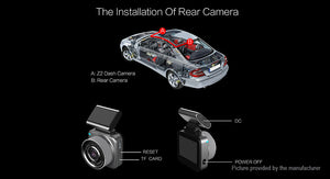 Anytek Q2 1080p HD Wifi Car Dash Cam DVR Camcorder - Area 399 Hachune Rage
