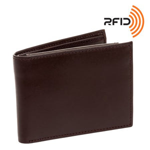 Ross Michaels RFID Brown Leather Wallet - Area 399 Hachune Rage