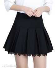 Load image into Gallery viewer, Inverted Pleat Plain A-Line Mini Skirt With Underpant - Area 399 Hachune Rage