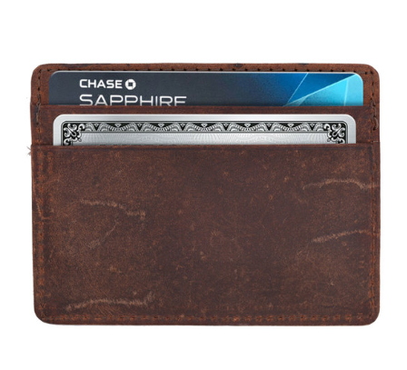 Genuine Leather RFID-Protecting Credit Card Holder - Area 399 Hachune Rage