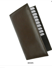 Load image into Gallery viewer, RFID-Blocking Soft Genuine Leather Bi-Fold Wallet BROWN - Area 399 Hachune Rage