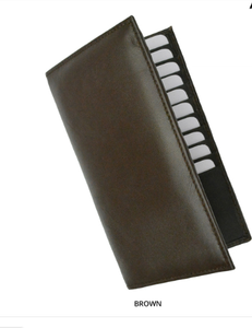 RFID-Blocking Soft Genuine Leather Bi-Fold Wallet BROWN - Area 399 Hachune Rage