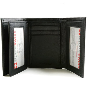 Alpine Swiss - RFID Blocking Mens Wallet Extra Capacity Multi ID Card Slot Trifold - Area 399 Hachune Rage
