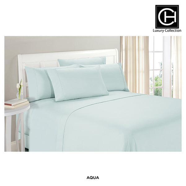 6-Piece Set: Double-Brushed Blissful Dreams Sheets -  Aqua - Area 399 Hachune Rage