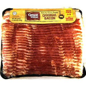 Great Value Original Naturally Hickory Smoked Bacon, 24 Oz. - Area 399 Hachune Rage
