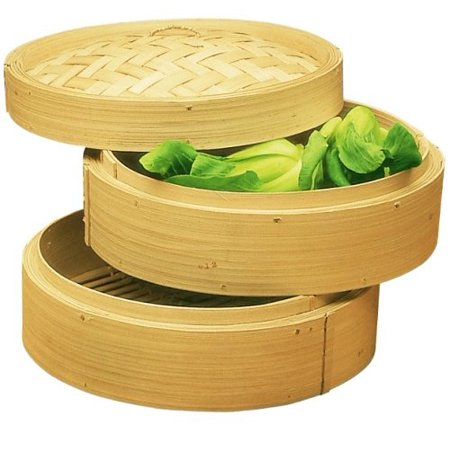 Three Piece 10 Inch Bamboo Steamer, Happy Sales By Happy Sales - Area 399 Hachune Rage