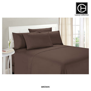 6-Piece Set: Double-Brushed Blissful Dreams Sheets -  Brown - Area 399 Hachune Rage