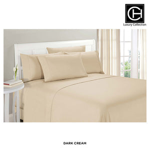 6-Piece Set: Double-Brushed Blissful Dreams Sheets - Dark Cream - Area 399 Hachune Rage