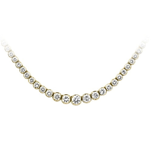 4 1/3 ct. tw. Diamond Riviera Necklace in 14K Yellow Gold - Area 399 Hachune Rage