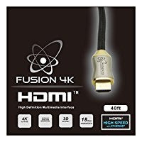 Fusion4K High Speed 4K HDMI 2.0 cable - Professional Series Ultra HD (40 Feet) CL3 Rated - Area 399 Hachune Rage