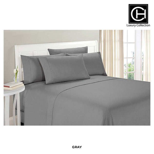 6-Piece Set: Double-Brushed Blissful Dreams Sheets - Gray - Area 399 Hachune Rage