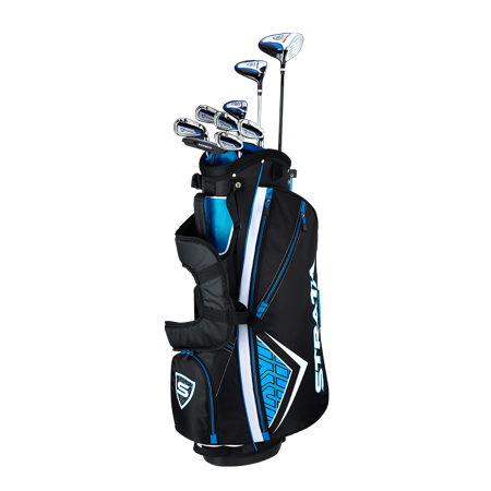 Callaway Men's Strata '19 Complete 12-Piece Steel Golf Club Set with Bag, Right Handed - Area 399 Hachune Rage