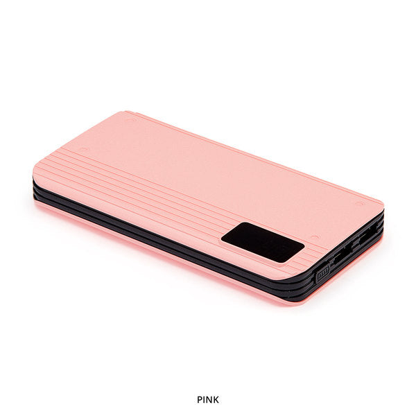 P8 10,000mAh Pink Portable Power Bank with Digital Display - Area 399 Hachune Rage