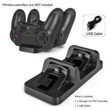 Load image into Gallery viewer, AGPtek PS4 Charging Station Dual USB Dock Charger Cradle For PS4 Wireless Game Controller - Area 399 Hachune Rage