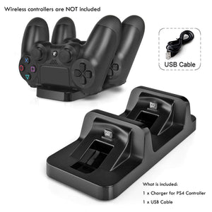 AGPtek PS4 Charging Station Dual USB Dock Charger Cradle For PS4 Wireless Game Controller - Area 399 Hachune Rage