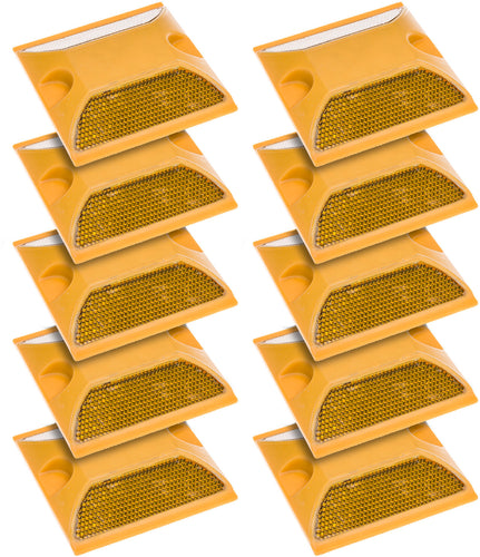 Road Safety Reflector YELLOW 10 pack - Area 399 Hachune Rage