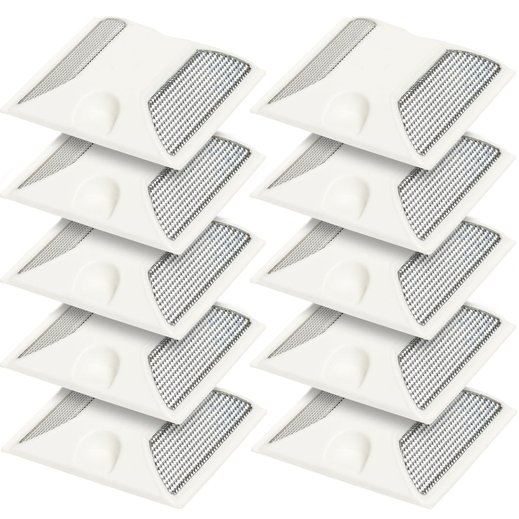 Road Safety Reflector WHITE 10 pack - Area 399 Hachune Rage
