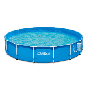 "Summer Waves 15'x33"" Metal Frame Above Ground Swimming Pool - Area 399 Hachune Rage"