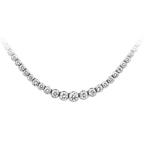 4 1/3 ct. tw. Diamond Riviera Necklace in 14K White Gold - Area 399 Hachune Rage