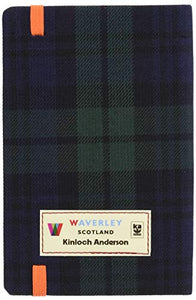 Black Watch: Waverley Genuine Tartan Cloth Commonplace Notebook (Waverley Scotland Tartan Cloth Commonplace Notebooks/Gift/stationery/plaid)