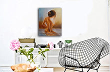 Load image into Gallery viewer, Female Nude Oil Painting Printed on Canvas, Nude Modern Canvas Art Wall Decor for Bathroom