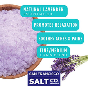 Sleep Lavender Bath Salts 2 lb. Luxury Gift Bag by San Francisco Salt Company