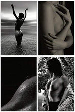 Load image into Gallery viewer, Erotic Postcards - Set of 20 beautiful black and white postcards showing female nude photographs - 10 unique