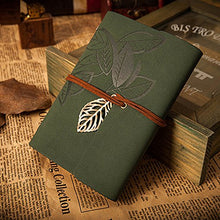 Load image into Gallery viewer, EvZ Vintage Dark Green PU Leather Cover Loose Leaf Blank Notebook Journal Diary Gift