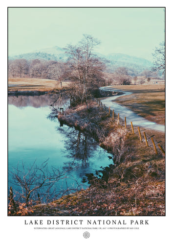 Lake Elter Water, Great Langdale, Lake District National Park (Signed Poster)
