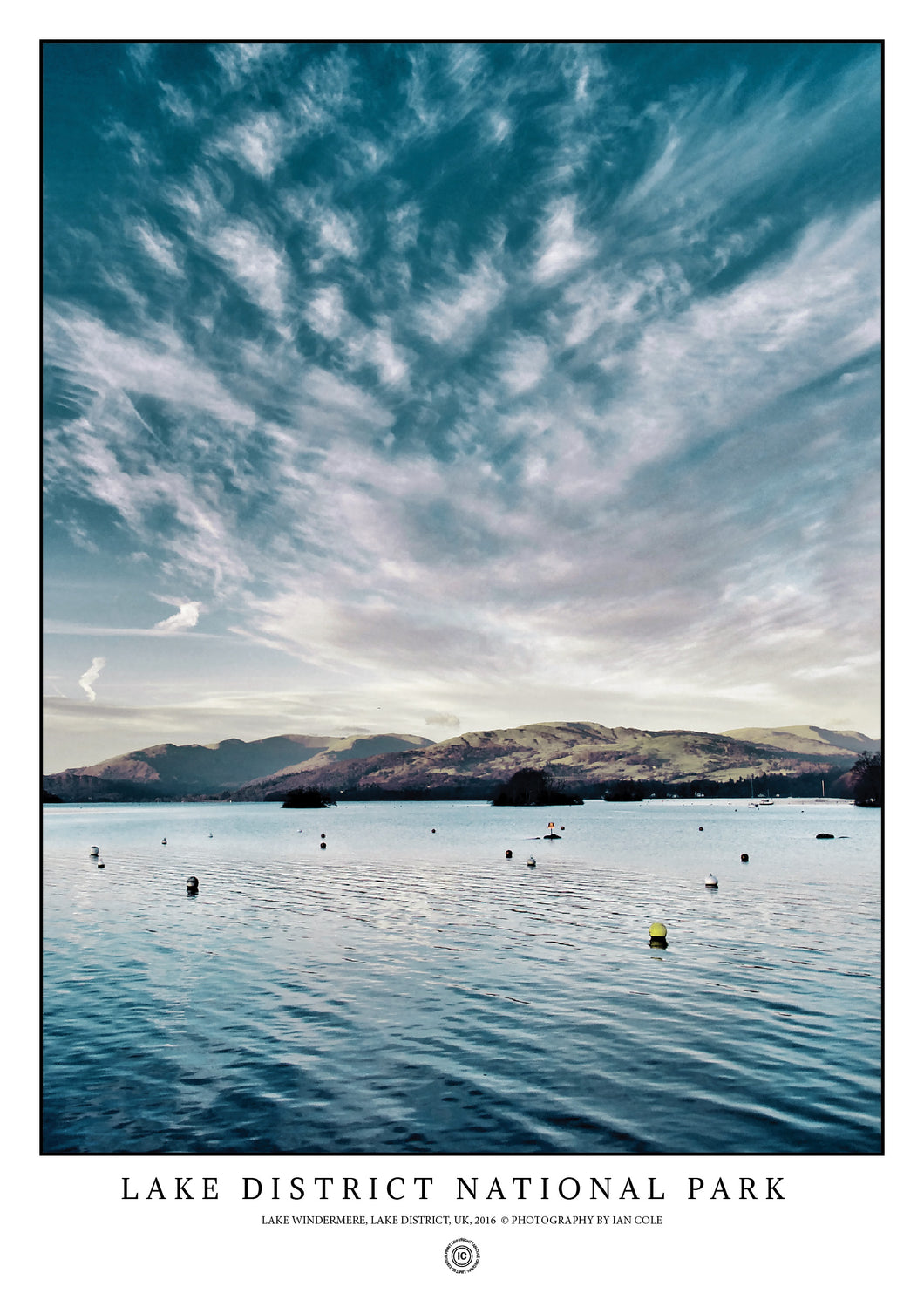Lake Windermere, Lake District National Park (Signed Poster)