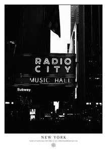 Radio City Music Hall, New York (Poster)