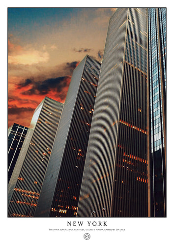Midtown Manhattan, New York (Signed Poster)