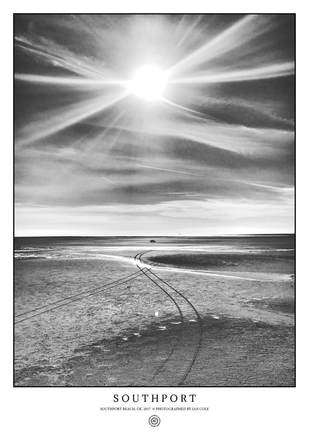 Southport Beach, UK (Signed Poster)