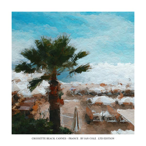 Croisette Beach, Cannes (Ltd Edition Print)