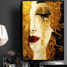 Load image into Gallery viewer, Gustav Klimt Abstract Tear Canvas Painting