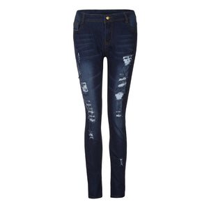 Skinny Ripped Jeans- High Waist - TK Trends Boutique