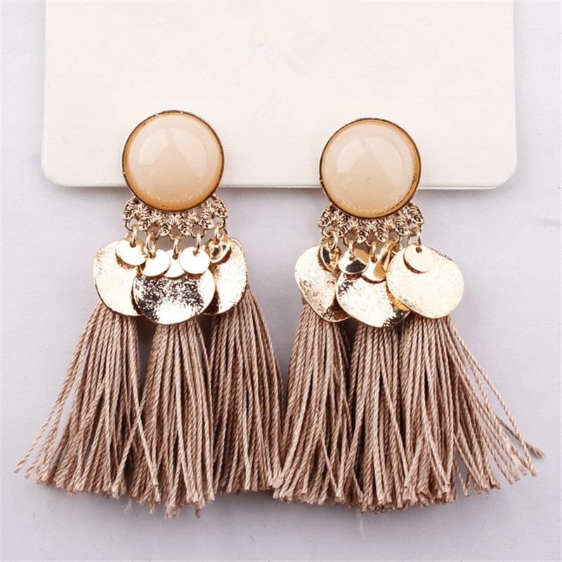 Bohemian Sequins Tassel Earrings - TK Trends Boutique