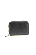 Black Leather Zipped Coin Purse