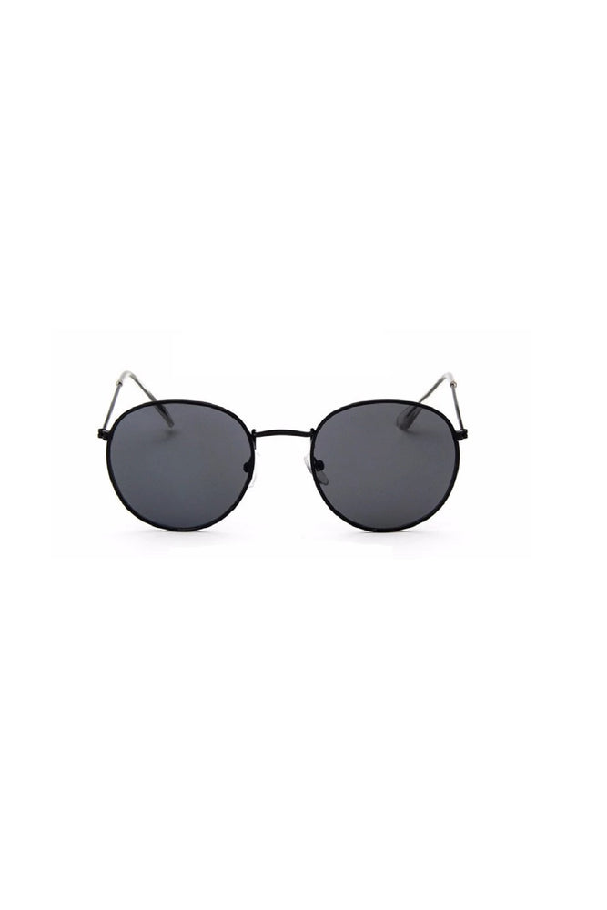 CALABASAS Black Round Sunglasses