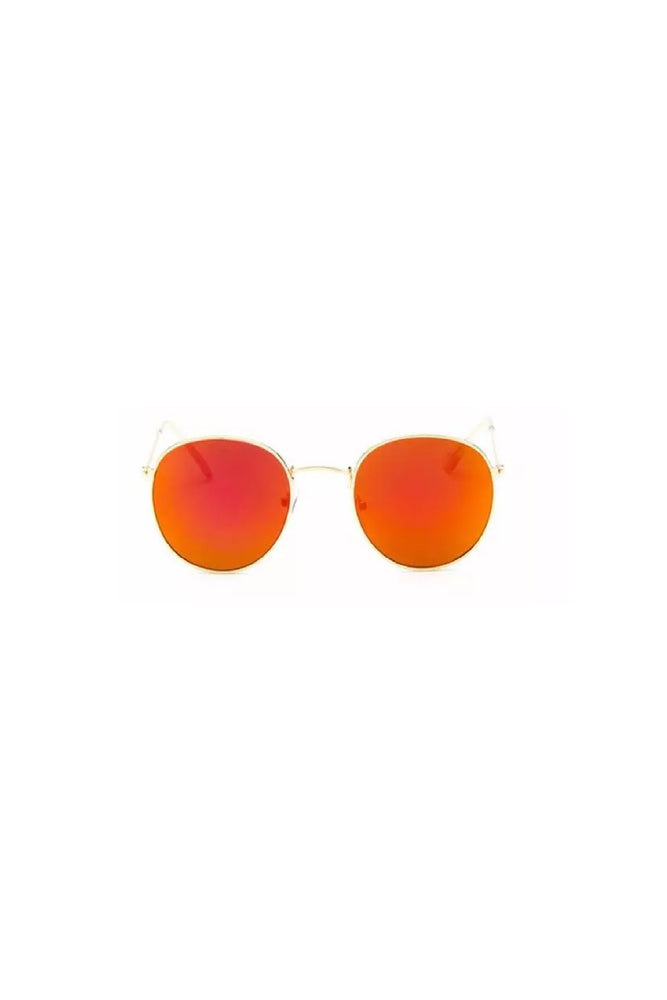 CALABASAS Orange Round Sunglasses