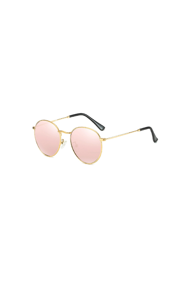 CALABASAS Rose Gold Round Sunglasses