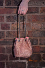 Rose Gold Diamante Pouch Bag