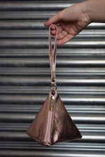 Rose Gold Triangle Wristlet