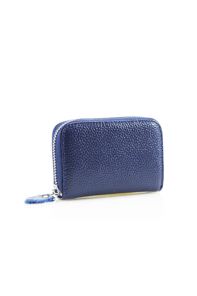 Navy Leather Zipped Coin Purse