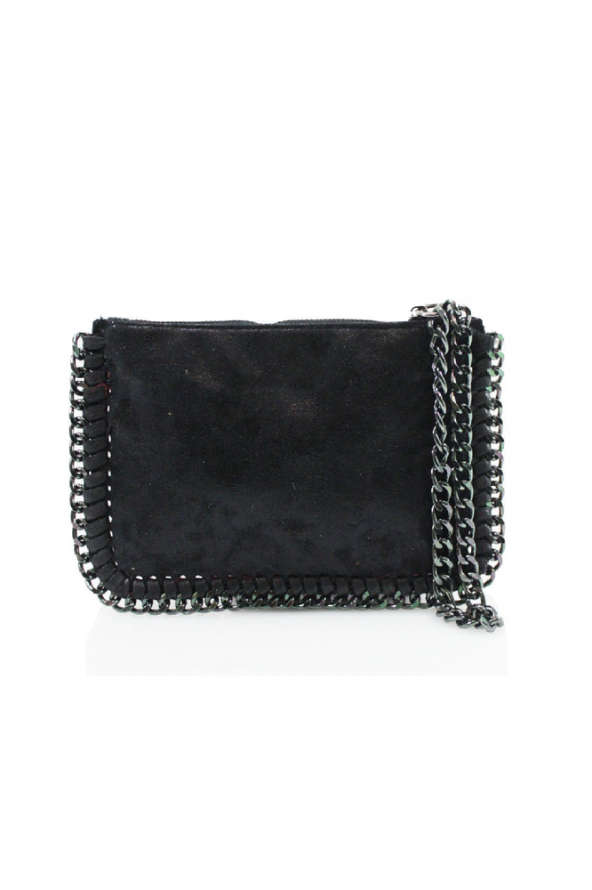 Black Chain Edge Wristlet